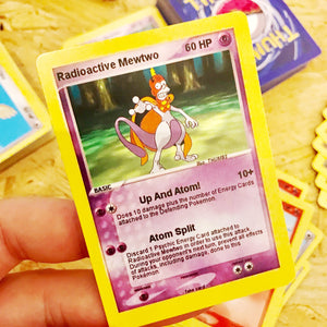 Radioactive Mewtwo Trading Card