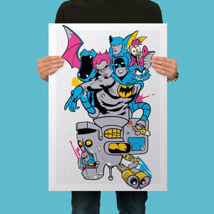 Self Loathing Bats and Bots Giclee Fine Art Print