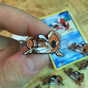 Sea King Pin, Sticker and Trading Card