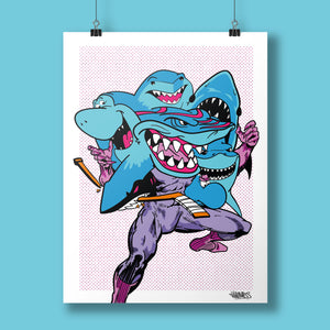 Self Loathing Sharks Giclee Fine Art Print