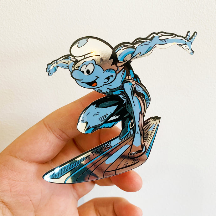Silver Smurfer Sticker