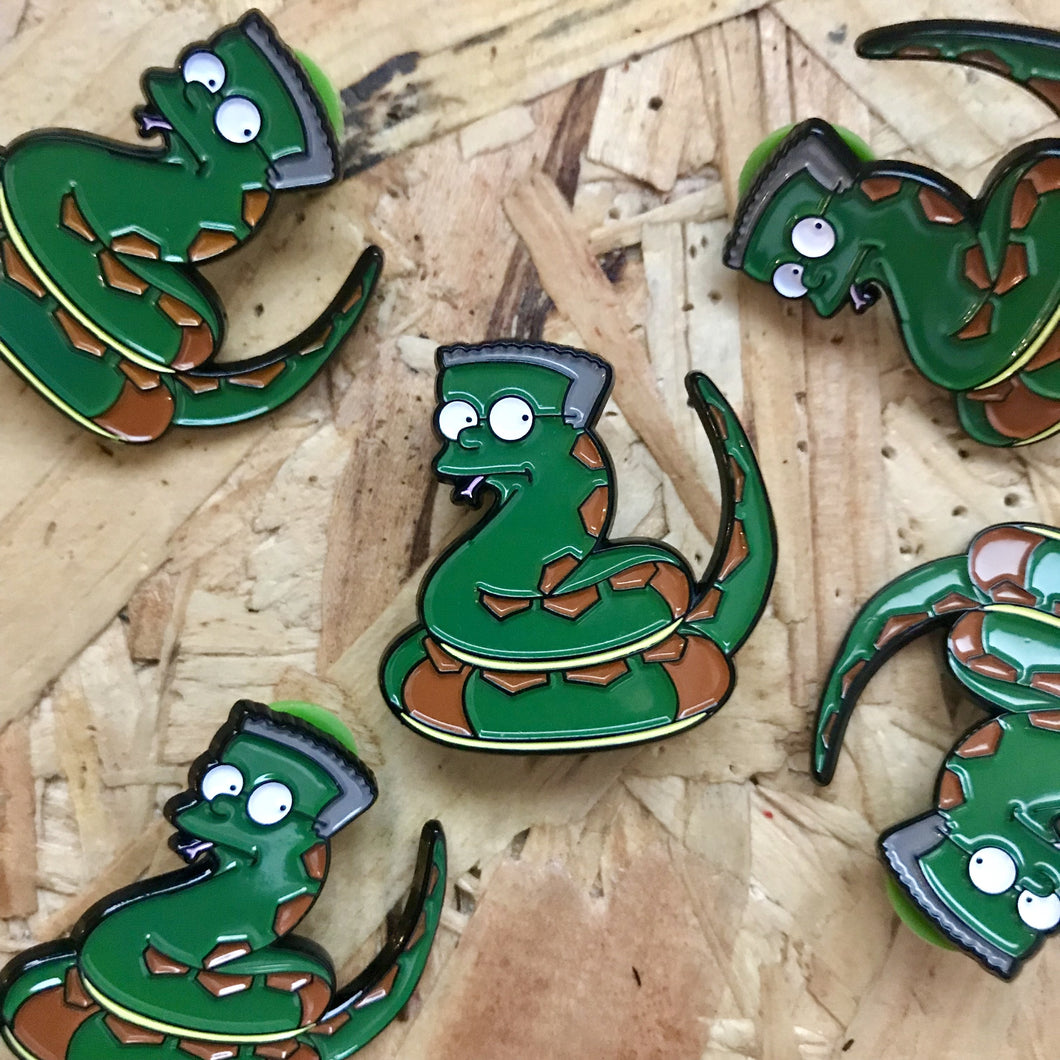 Slithers Hogfield Pin Badge
