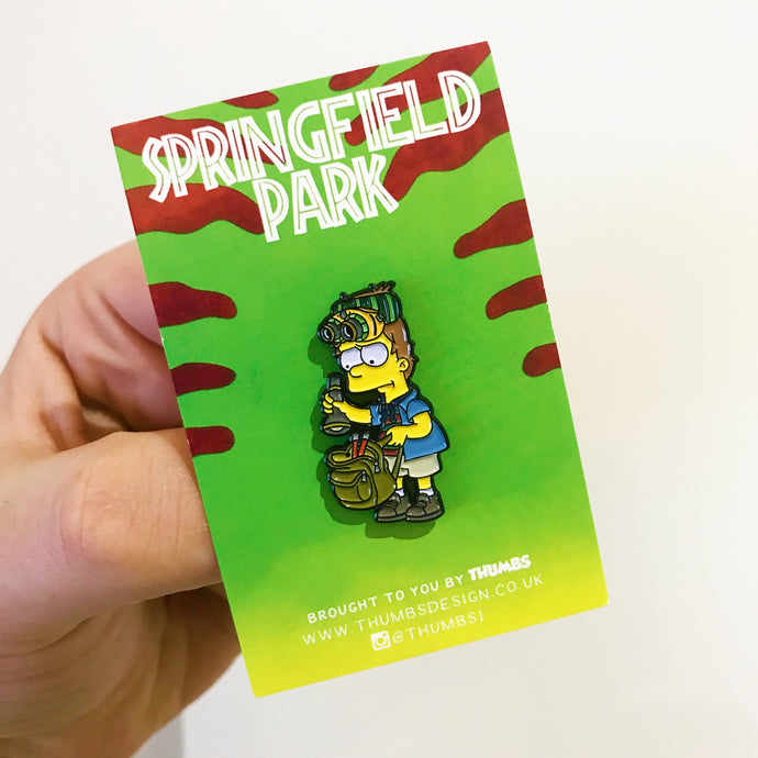 Bimmy Springfield Park Pin Badge