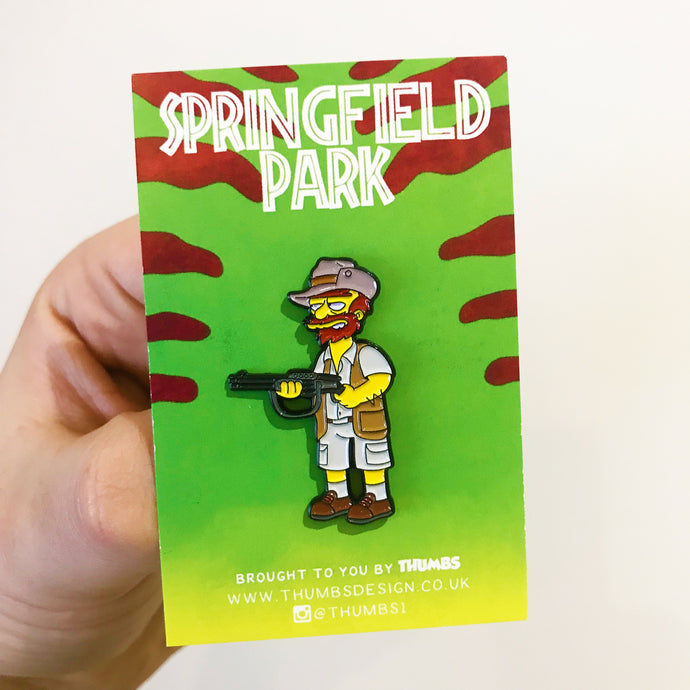Willie Muldoon Springfield Park Pin Badge