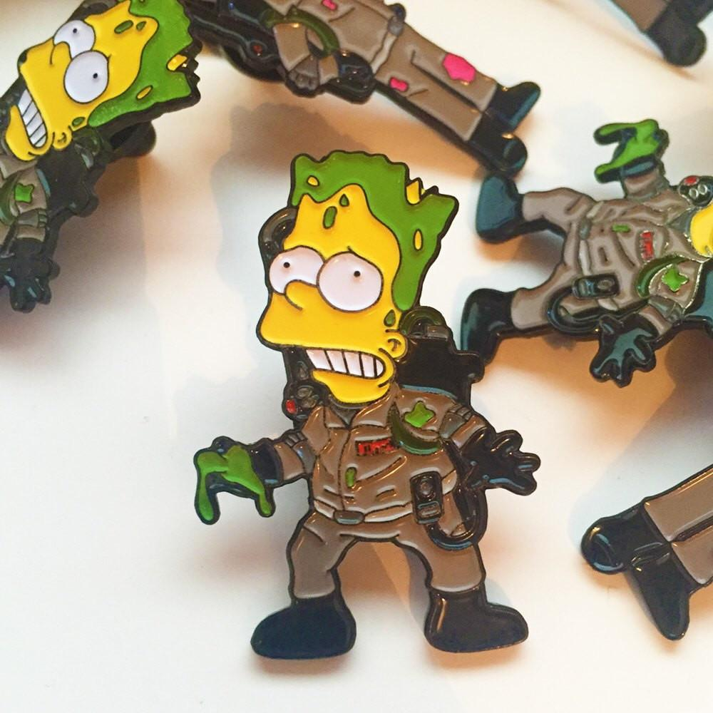 Bort Slimebusters Pin Badge