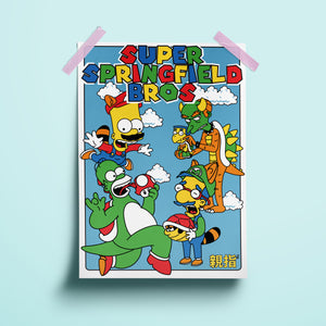 Super Springfield Bros Art Print