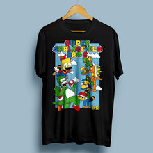 Super Springfield Bros T-Shirt Black with Front Print