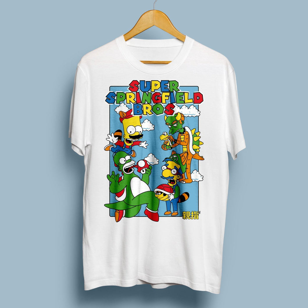 Super Springfield Bros T-Shirt with Front Print