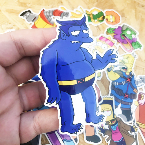 Beasty Springfield Mutants Sticker