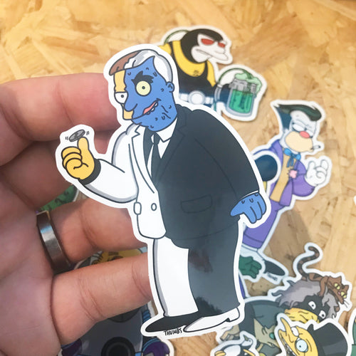 Two Face Hutz Gothamfield Sticker