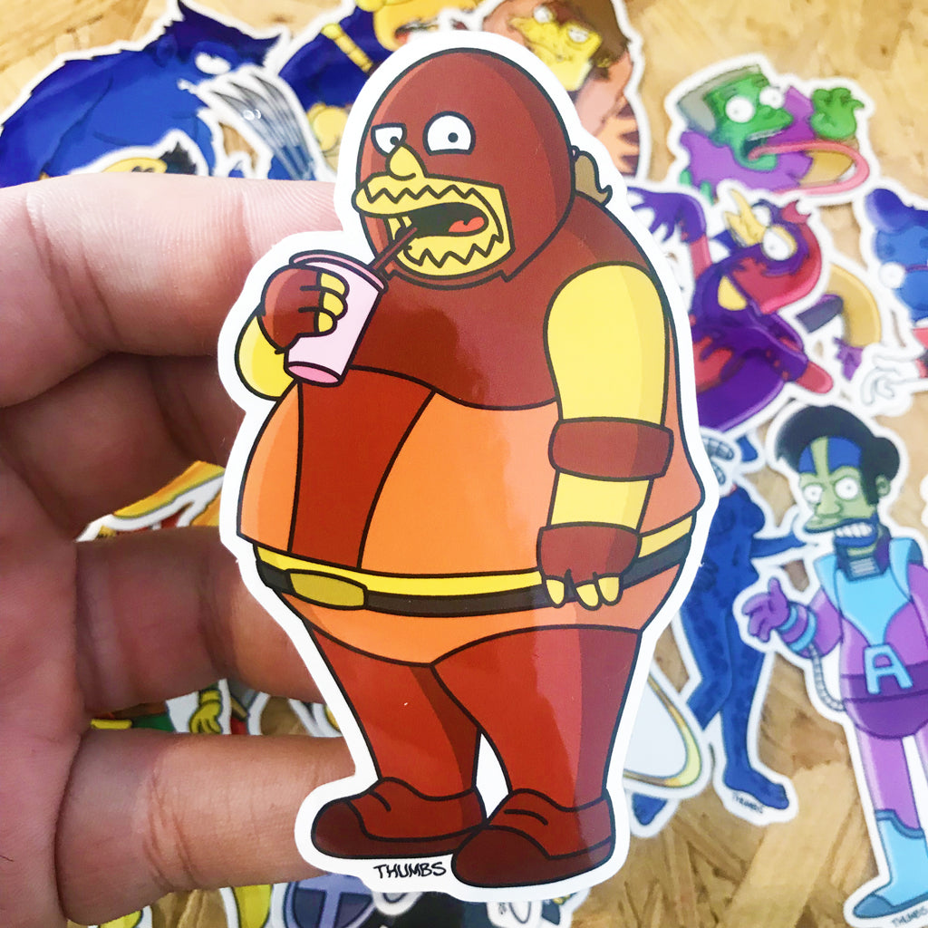 Comic Book Juggernaut Springfield Mutants Sticker