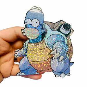 Homertoise Glitter Sticker