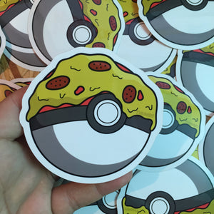 Pokeball Pizza Sticker