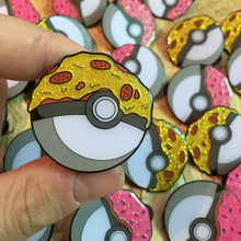 Pokeball Pizza Glitter Enamel Pin Badge