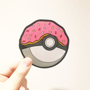 Pokeball Pizza 10cm Woven Patch