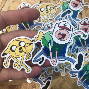 Finn and Jake Adventure Time x Pokemon Die Cut Sticker