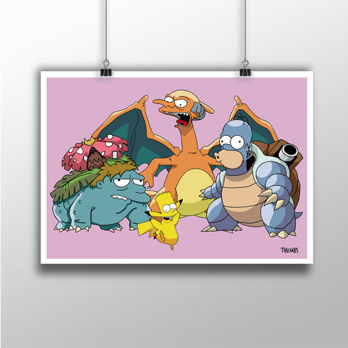 Springfield Pocket Monsters Heavyweight Art Print