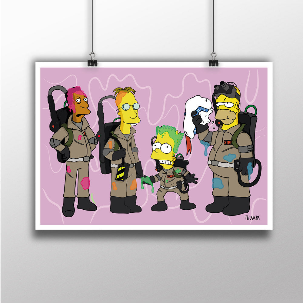 The Simpsons x Ghostbusters Heavyweight Art Print