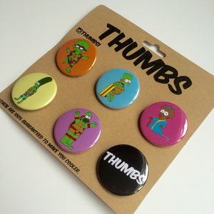 The Simpsons x Adventure Time Button Badge Set