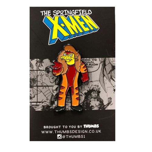 Snakertooth Springfield Mutants Pin