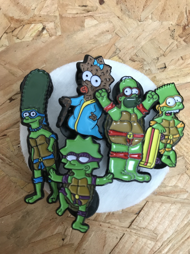 Springfield TMNT Seconds Pin - Homer