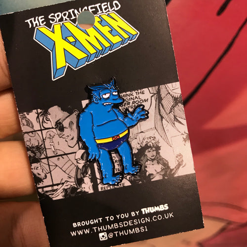 Beasty Springfield Mutants Pin