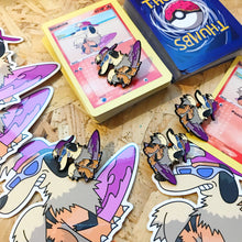 Growlchie Pin, Sticker and Trading Card