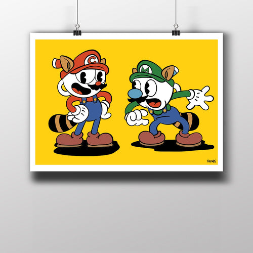 Super Inkwell Bros Art Print
