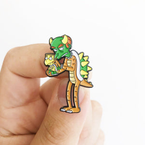 Mr Burnser Super Springfield Bros Pin Badge