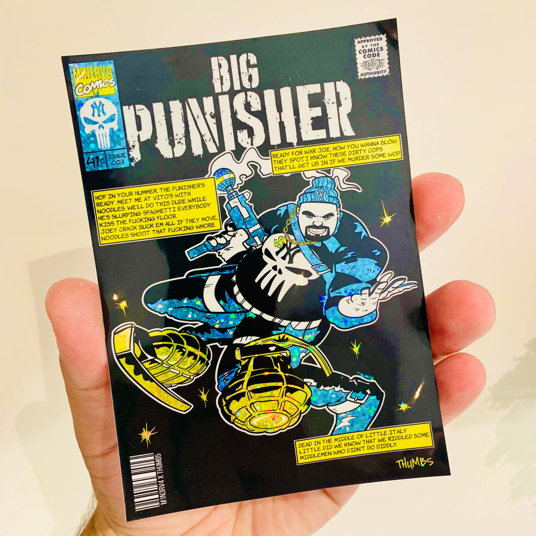 Big Punisher Glitter Sticker