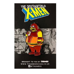 Comic Book Juggernaut Springfield Mutants Pin