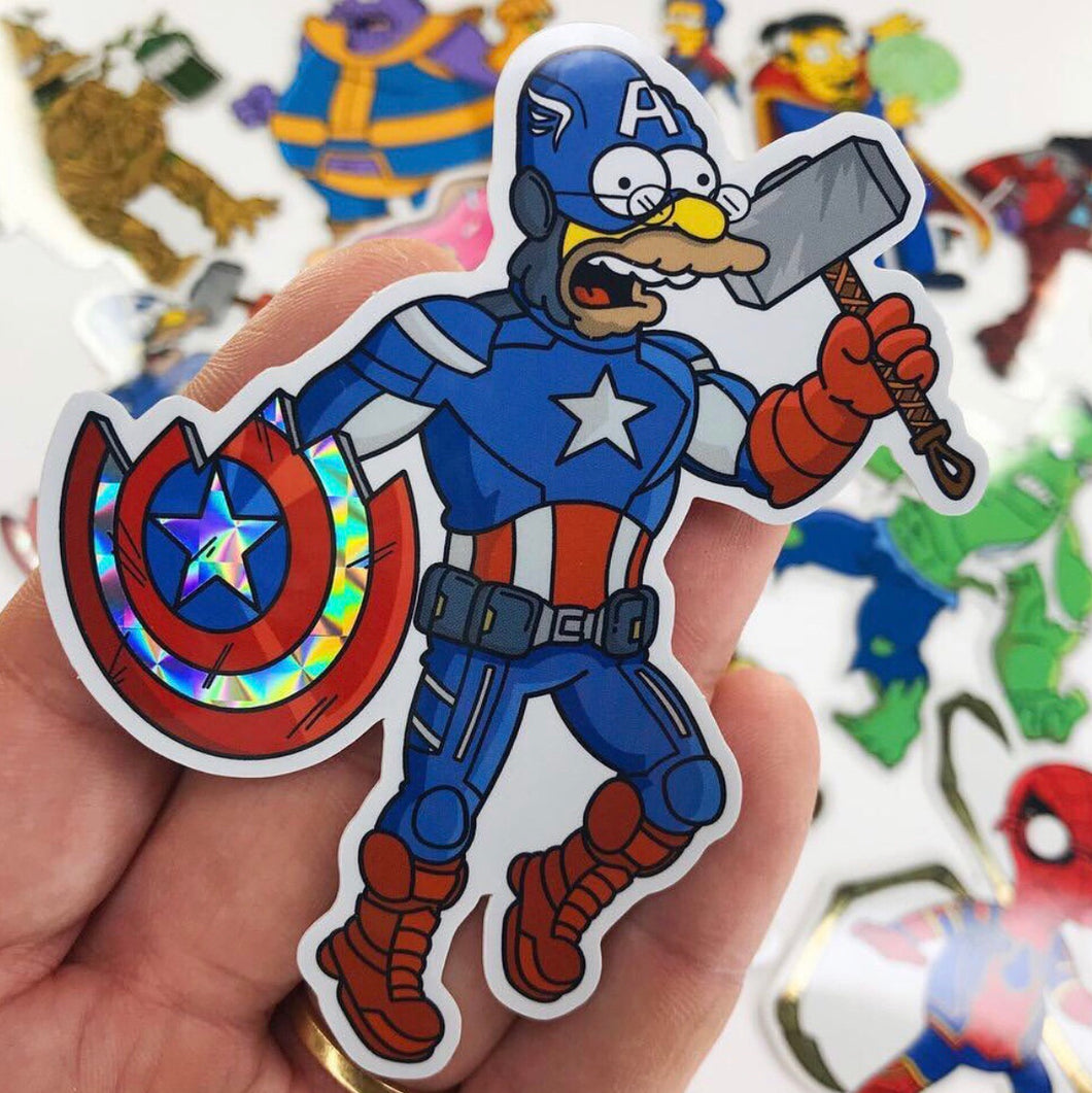 Captain Abemerica Springfield Endgame Sticker