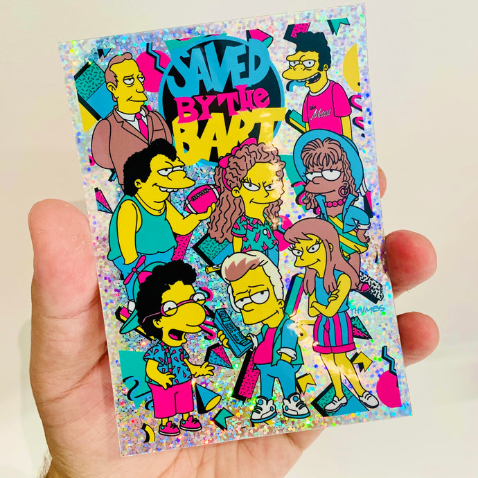 Saved By The Bart Glitter Sticker