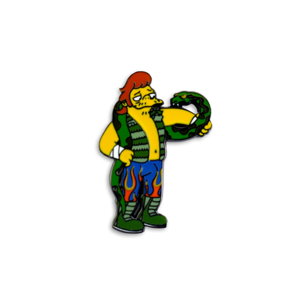 Jake the Snakke x Springfield Mania Hard Enamel Pin Badge