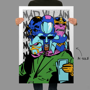Self Loathing Mad Villain Giclee Fine Art Print