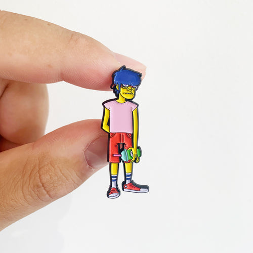 Meelhouse x Squishee Gorilaz Pin Badge