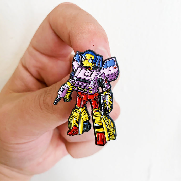 Milbot Springformers Pin Badge