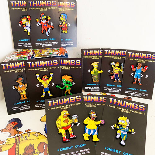 Springfield Fighters Pin Badge Set