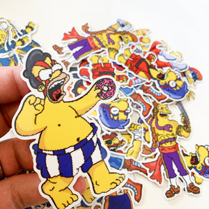 Groundskeeper Sagat Springfield Fighters Sticker