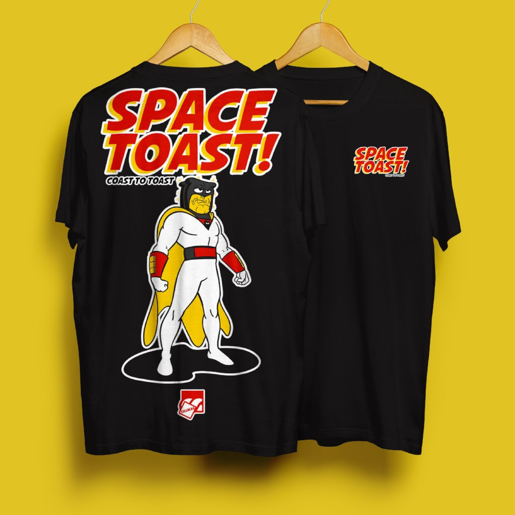 Space Toast T-Shirt Black