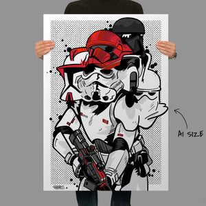 Self Loathing Trooper Giclee Fine Art Print