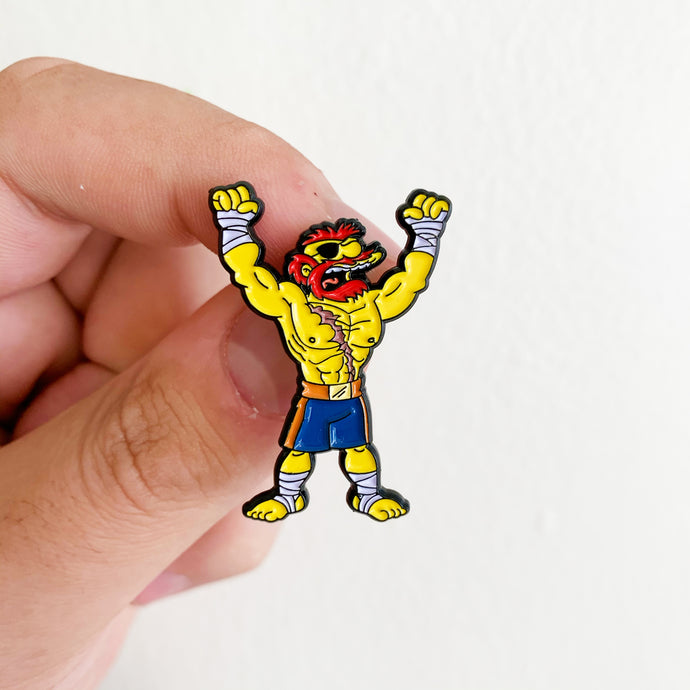 Groundskeeper Sagat Springfield Fighters Pin Badge