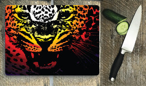 Leopard - Glass Chopping Board