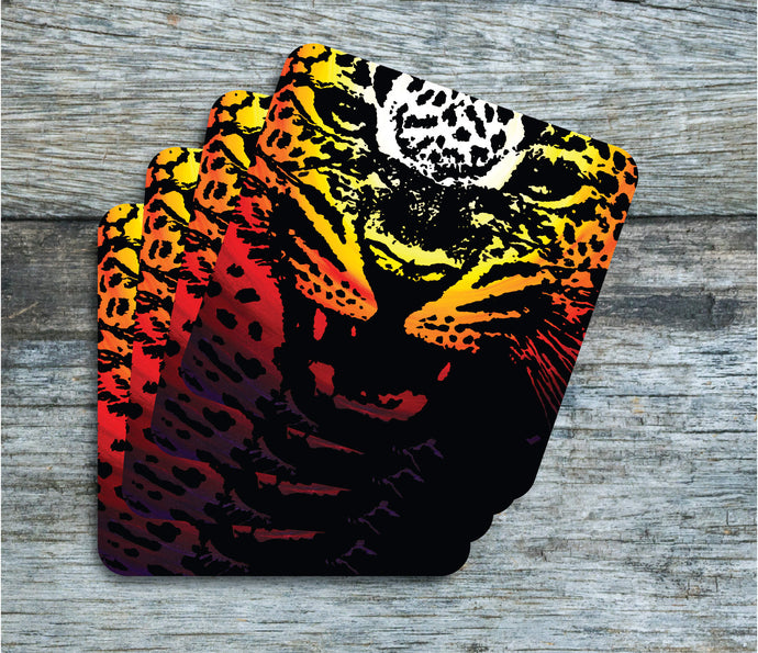 Leopard - Coasters - Pack of 4