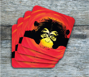 Coasters - Chimpanzee - Coasters - Pack Of 4