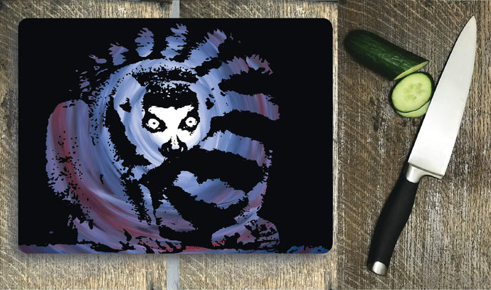 Glass Chopping Board - Lemur - Glass Chopping Board