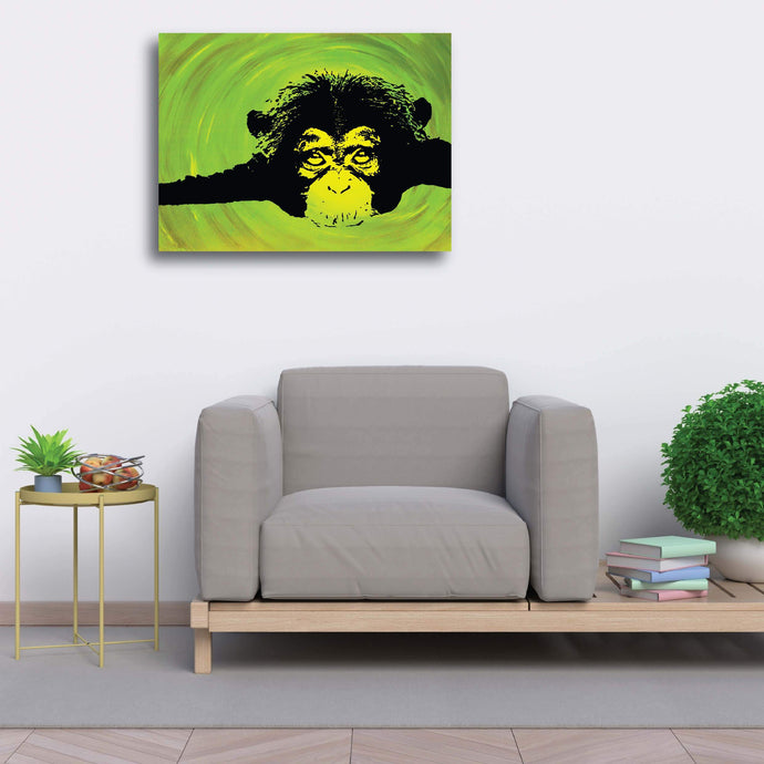 Luxury Stretched Canvas (Large) - Chimp - Luxury Canvas (Large)