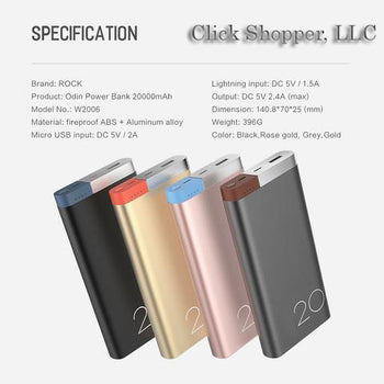 Universal Portable Power bank for iPhone 8 7 6 plus and Samsung