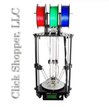 3D Printer 3-In-1-Out Extruder Rostock Metal with 3M Filament