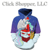 Unicorn Santa Claus 3D Hoodies